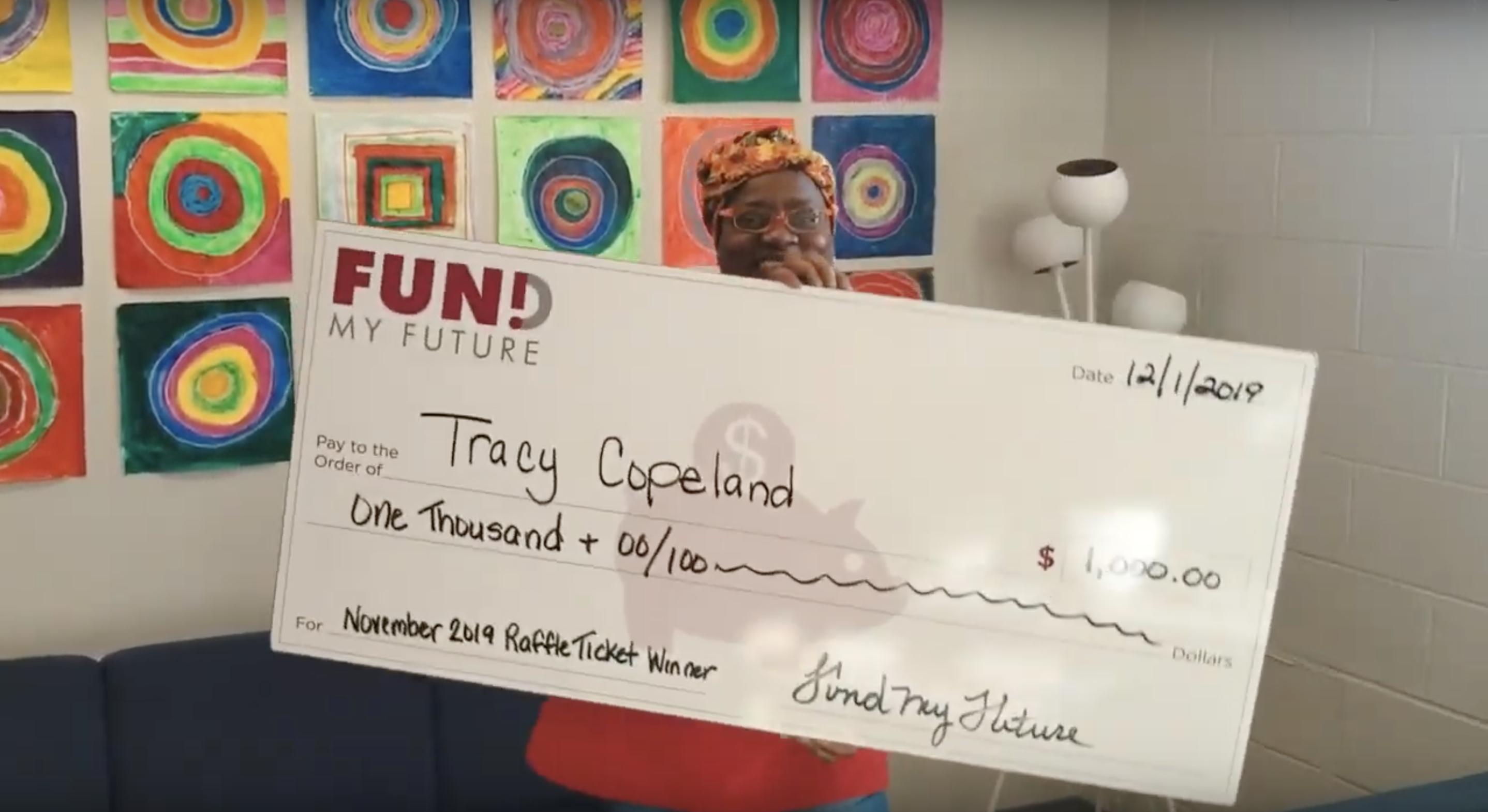 Meet Tracy, November's $1,000 Winner!